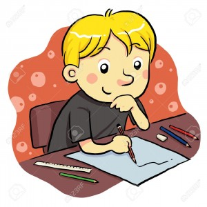 9718879-Studying-Stock-Vector-studying-children-writing