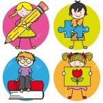 15311996-Tarjeta-para-la-educaci-n-Aprender-a-escribir-dibujar-leer-y-jugar-Foto-de-archivo