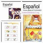 Libros de Español Actividades, lecturas y recortable Primer grado – Plan 98