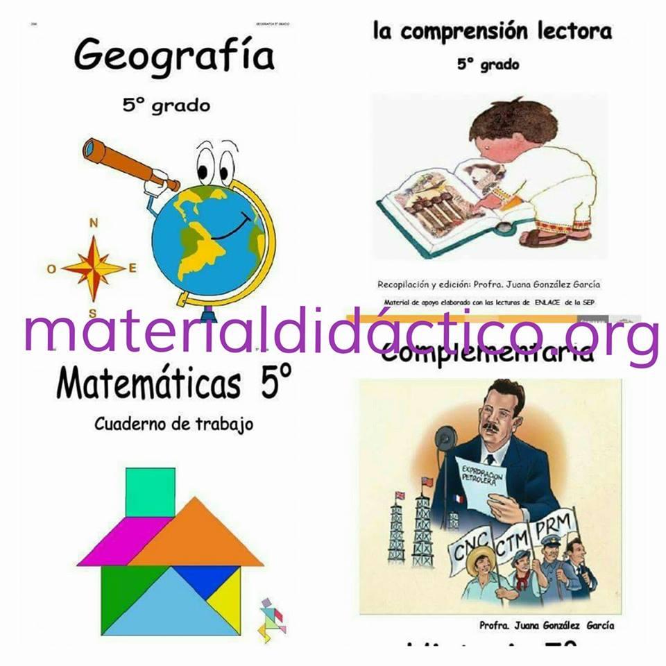Cuadernos de trabajo quinto grado ciclo escolar 2015-2016 | Material ...