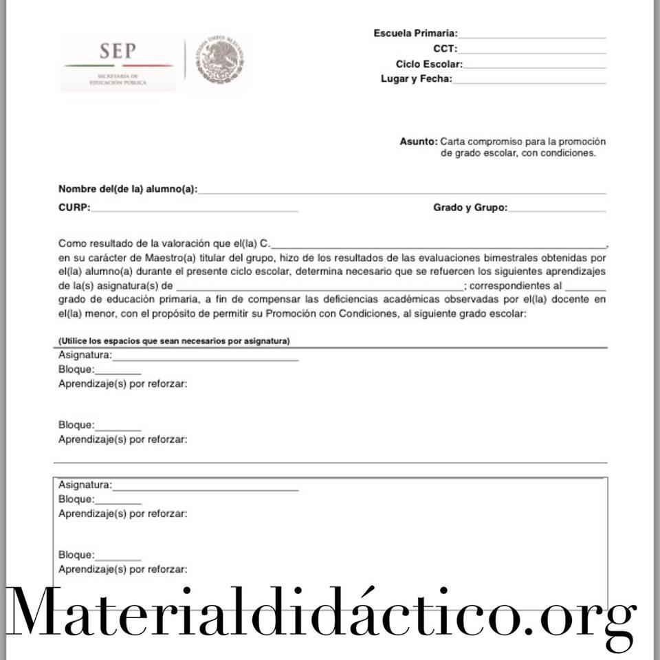 Ejemplo De Carta De Compromiso De Estudios 2016 Car Carta Compromiso Para La Promoci 243 N De