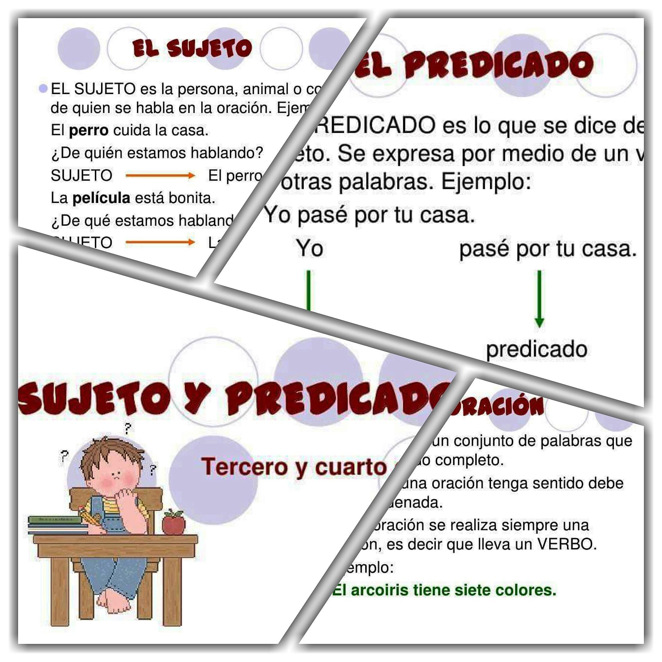 Sujeto y predicado material did ctico y planeaciones for Definicion de cuarto