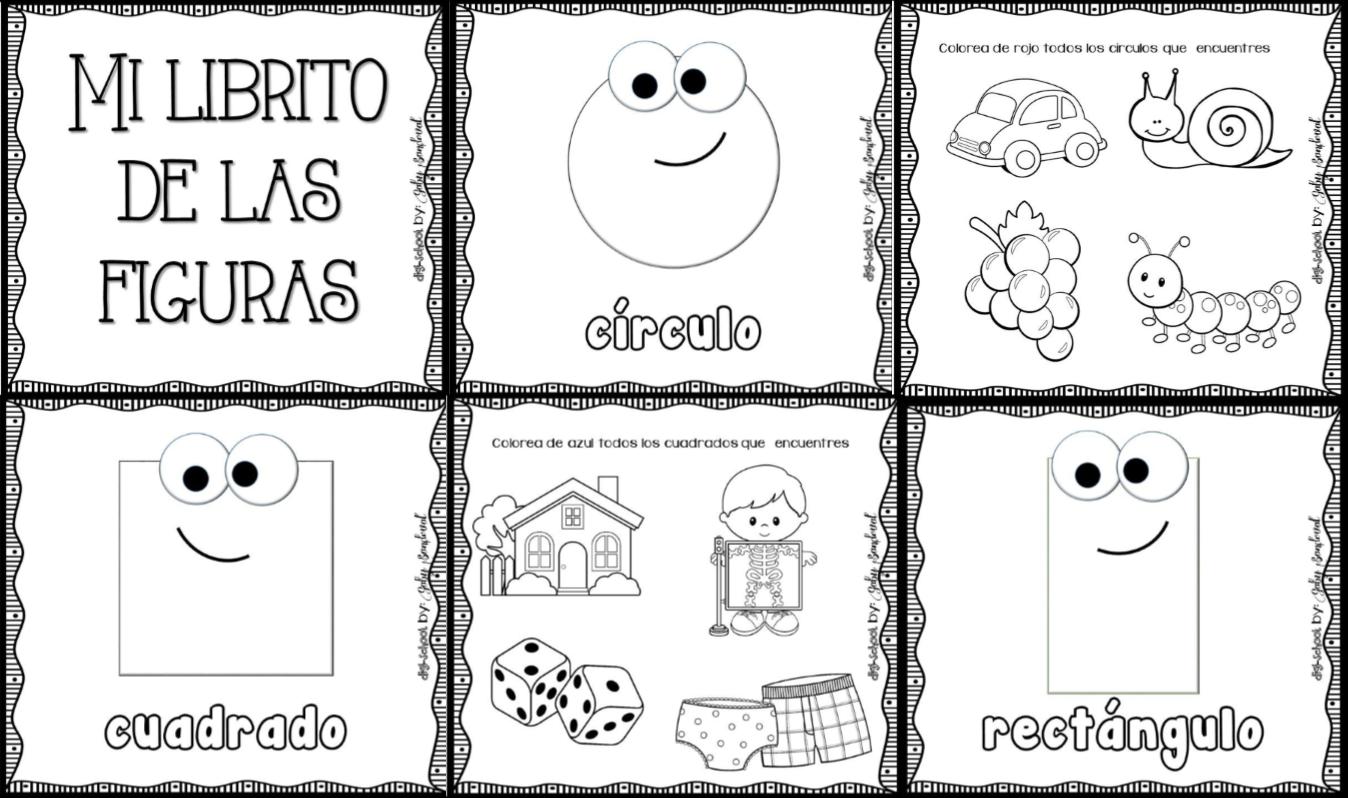 Figuras Para Colorear Para Niños De Preescolar: Excelente Librito De Las Figuras Geométricas