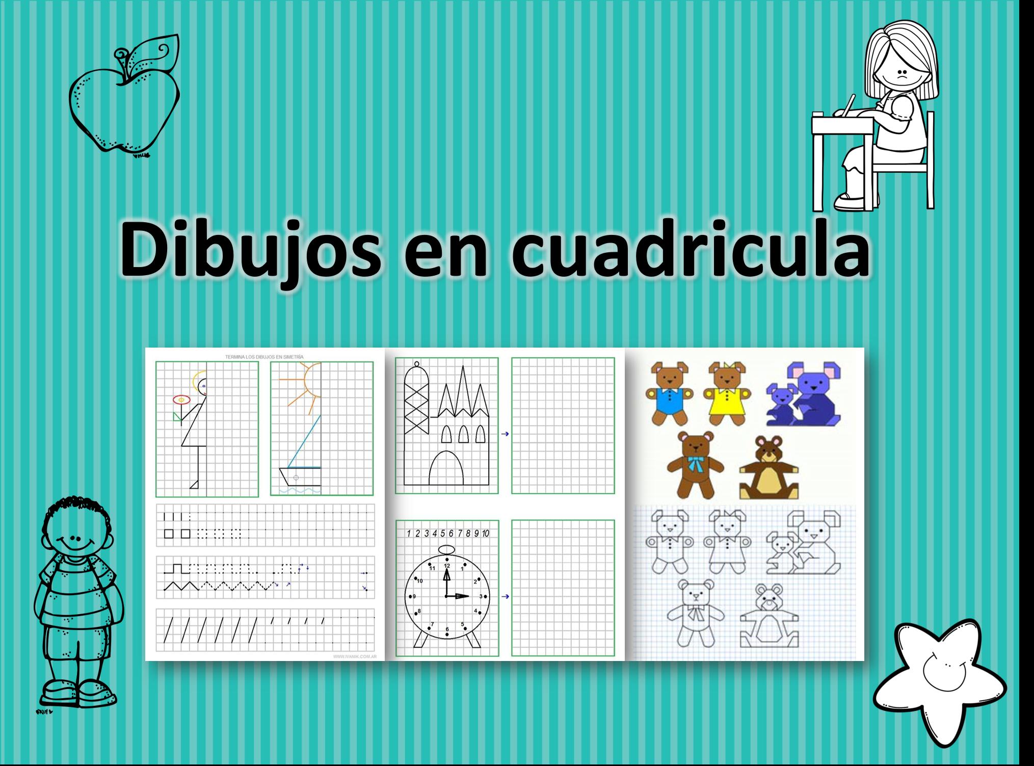 Dibujos en cuadricula material did ctico y planeaciones - Trabajar en casa montando cosas ...
