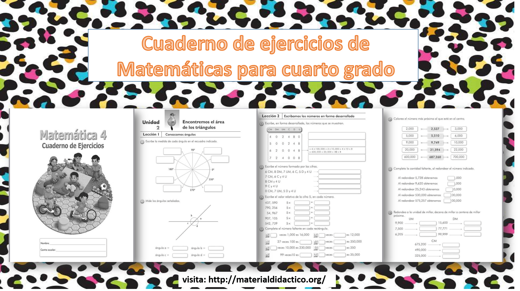 Cuaderno de ejercicios de Matemáticas para cuarto grado ...