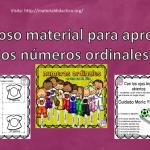 Fabuloso material para aprender los números ordinales