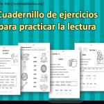 Cuadernillo de ejercicios para practicar la lectura