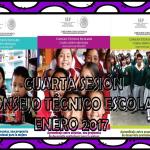 Guías para la cuarta sesión del consejo técnico escolar del mes de enero 2017
