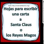 Hojas para escribir una carta a Santa Claus o los Reyes Magos