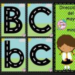 Dirección del trazo del abecedarios en mayúsculas y minúsculas