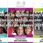 Guías de la quinta sesión del consejo técnico escolar del mes de febrero 2017