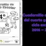 Cuadernillo de repaso del cuarto grado del ciclo escolar 2016 – 2017