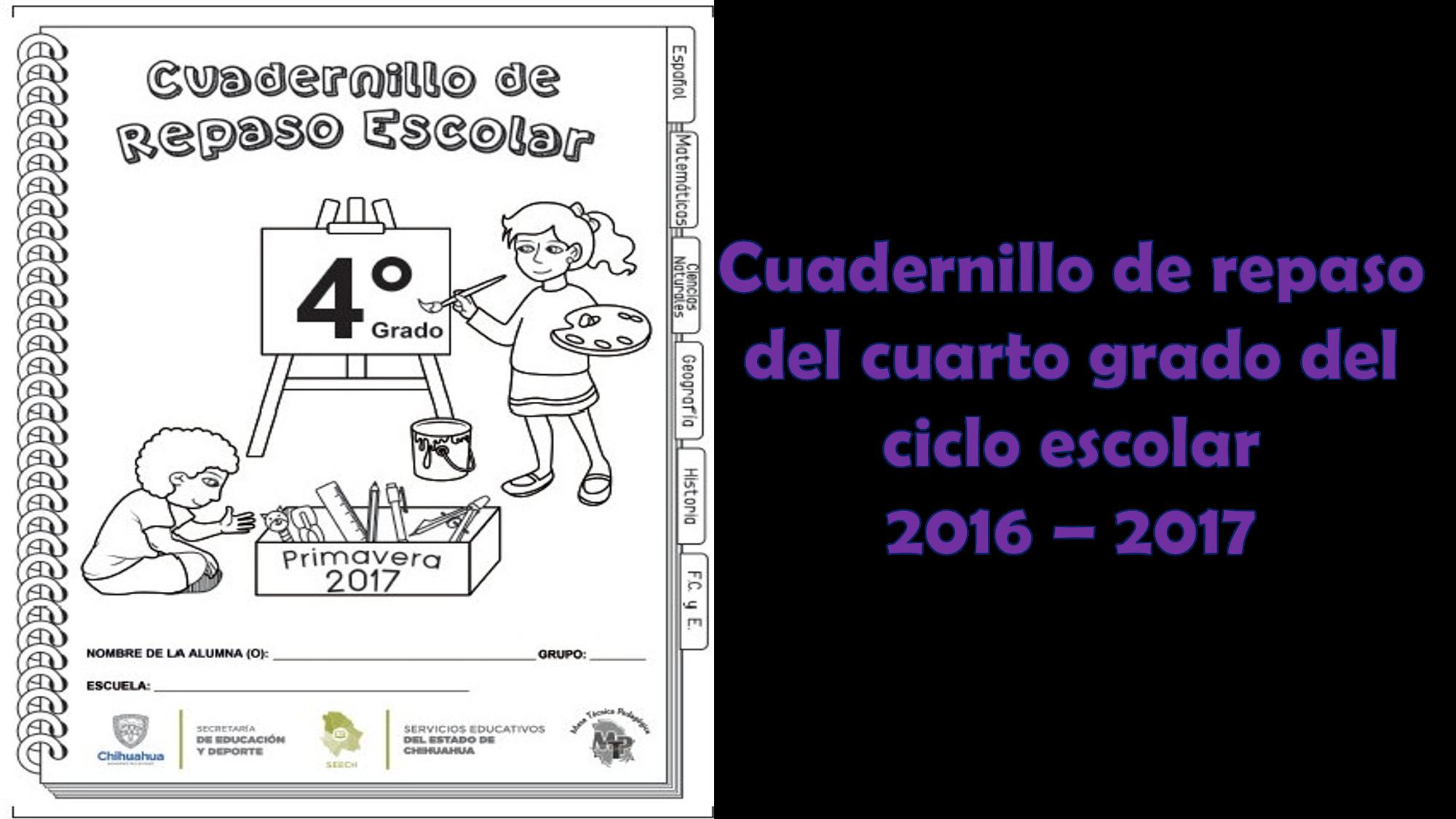 Cuadernillo de repaso del cuarto grado del ciclo escolar 2016 – 2017 ...
