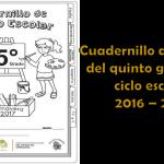 Cuadernillo de repaso del quinto grado del ciclo escolar 2016 – 2017