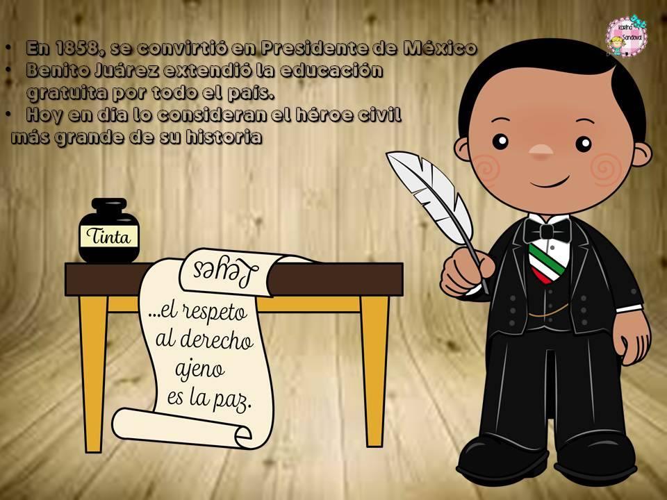 Maravillosa Biografía O Cuento De Don Benito Juárez Material
