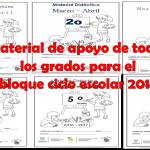 Material de apoyo de todos los grados para el cuarto bloque ciclo escolar 2016 – 2017