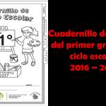 Cuadernillo de repaso del primer grado del ciclo escolar 2016 – 2017