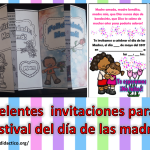 Excelentes  invitaciones para el festival del día de las madres