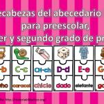 Rompecabezas del abecedario ilustrado para preescolar, primer y segundo grado de primaria