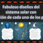 Fabuloso diseños del sistema solar con explicación de cada uno de los planetas