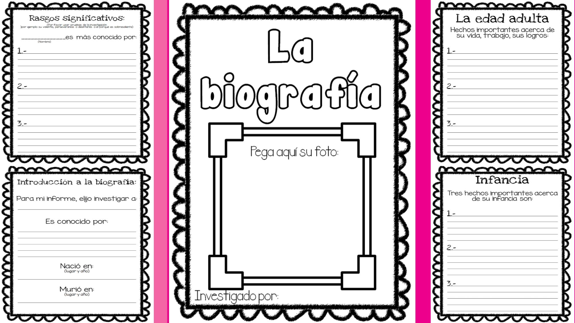 actividades para trabajar la biografia y autobiografia en primaria