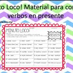 ¡Minuto Loco! Material para conjugar verbos en presente