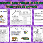 Excelente material para trabajar las sílabas trabadas – Primer ciclo de primaria