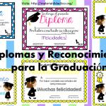 Diplomas y Reconocimientos para la Graduación