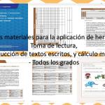 Excelentes materiales para la aplicación de herramientas: Toma de lectura, producción de textos escritos, y cálculo mental – Todos los grados