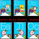 Bonitos Banners de las Vocales – Unicornio y Circo