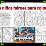 Los niños héroes para colorear