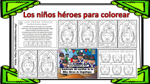 Los Niños Héroes Para Colorear Material Didáctico Y Planeaciones