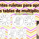 Excelentes ruletas para aprender las tablas de multiplicar