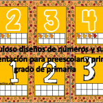 Fabuloso diseños de números y su representación para preescolar y primer grado de primaria