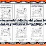 Excelente material didáctico del primer bloque de todos los grados ciclo escolar 2017 – 2018