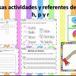 Fabulosas actividades y referentes de las letras h, p y r