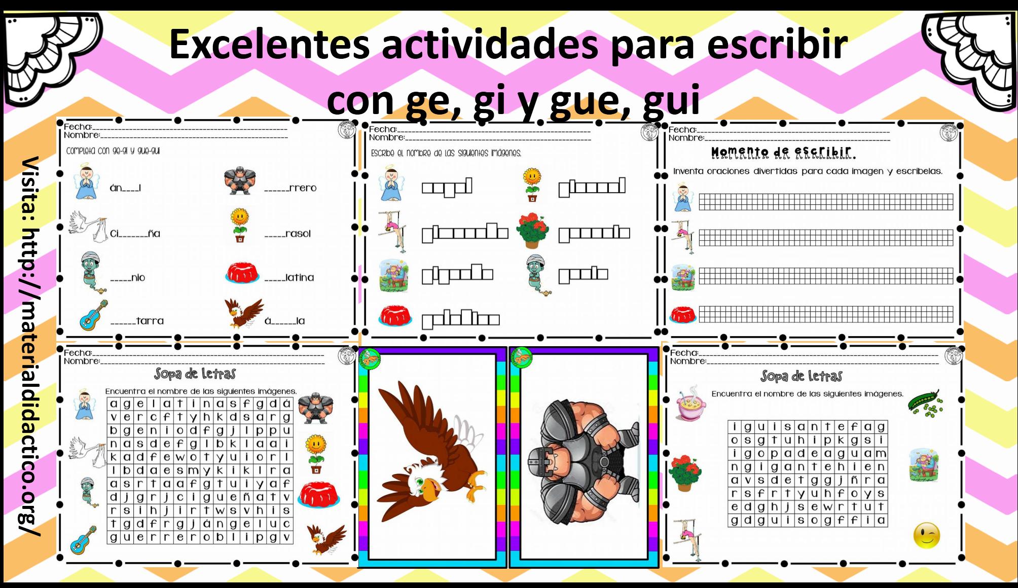 2do grado material did ctico y planeaciones for Parole con ge gi