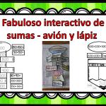 Fabuloso interactivo de sumas – avión y lápiz
