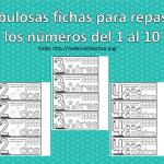 Fabulosas fichas para repasar los números del 1 al 10