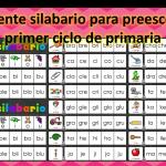 Excelente silabario para preescolar y primer ciclo de primaria
