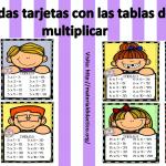 Lindas tarjetas con las tablas de multiplicar