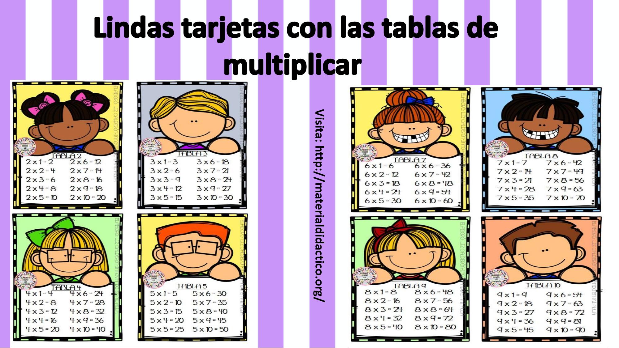 Descargar Cartel Para La Tablas De Multiplicar Lindas