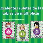 Excelentes ruletas de las tablas de multiplicar