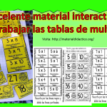 Excelente material interactivo para trabajar las tablas de multiplicar