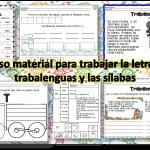 Fabuloso material para trabajar la letra T,  los trabalenguas y las sílabas