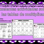 Excelentes actividades sobre las tablas de multiplicar