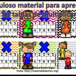 Fabuloso material para aprender las tablas de multiplicar