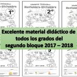 Excelente material didáctico de todos los grados del segundo bloque 2017 – 2018