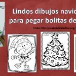 Lindos dibujos navideños para pegar bolitas de papel
