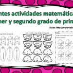 Excelentes actividades matemáticas para primer y segundo grado de primaria